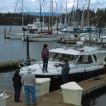 Greeting Seahorse arriving at Port Ludlow