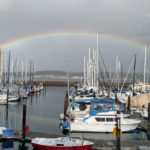 beautiful rainbow over the marina / JH