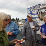 enjoying the docktail party