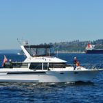Skipper Sandy Thomas making a calm smooth approach coming in to Bell Harbor Marina, Seattle