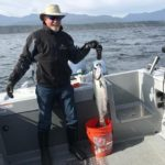 Al Cox showing a nice salmon!