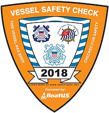 Vessel Safety Sticker 2018