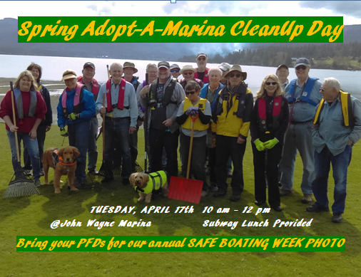Adopt a Marina Spring Cleanup flyer