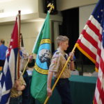 Boy Scout Troop #1498 Color Guard opened our meeting by posting the colors