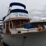 Blue Heron, Nila & Ray's boat