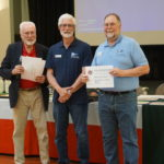 Ray Madsen receiving Marine Communications Certificate