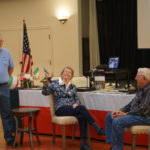 Ray interviewing Grace & Dick Schoel