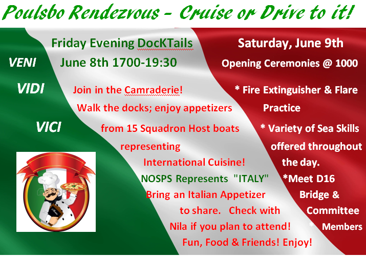 Join us for fun at Friday night Doct=ktails and Saturday Seaskills June 8th -9th