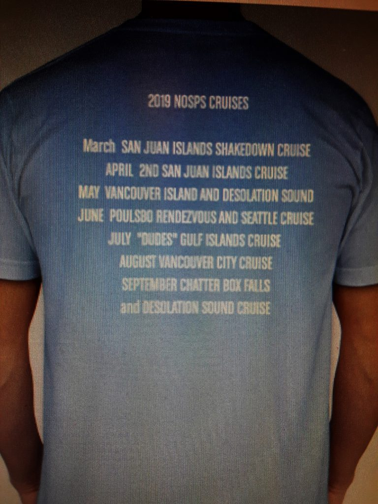 2019 CRUISE SHIRT back