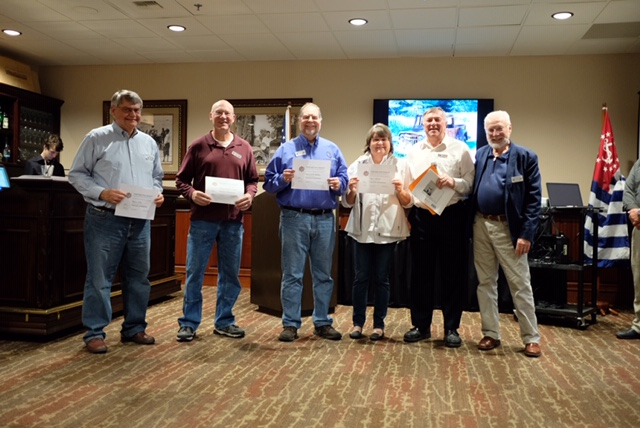 February Instructor Development Students receive their Certificates of successful Completion 2018