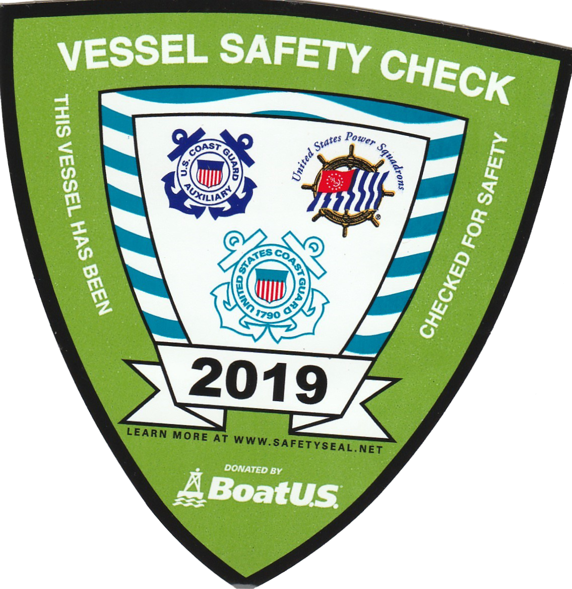 2019 Vessel Safety Sticker