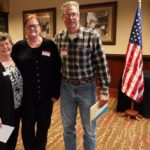 Membership Chair Sandy Thomas with Paula & Ken Barnaby