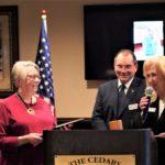Presenting Ruth Kohl with lifetime Membership